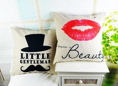 "* 18 "" Home Decorative Linen Cushion Cover Ikea Mustache Lip Sofa Pillow Cover Pillowcase for Wedding capa de almofada Sofa Pillow Covers, Sofa Pillows, Decorative Pillow Covers, Cushion Covers, Pillow Cases, Cushions, Throw Pillows, Lips Sofa, Home Textile"