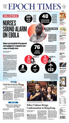 Union says hospitals ill-prepared and equipped to respond to new cases of deadly virus  #newspaper #editorialdesign #infographic