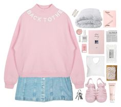 """""""""""gotta get back in time"""" ❁"""" by rock-n-roll-princess-xo ❤ liked on Polyvore featuring Jennifer Haley, Soft-Tex, Stila, Obsessive Compulsive Cosmetics, Darphin, Kenzo, Pier 1 Imports, Madewell, Forever 21 and gottatagrandomn3ss"""