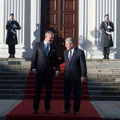 The president of the Republic of Slovakia, Andrej Kiska state visit in Germany