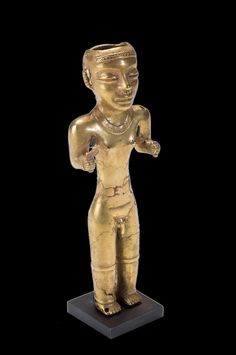 Quimbaya Standing Gold Man Poporo South America, Latin America, Central America, Christopher Columbus Voyages, Gold Man, Colombian Art, Mesoamerican, Minoan, Effigy