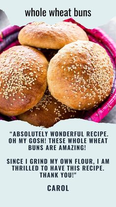 Homemade Whole Wheat Hamburger Buns are perfect for the grilling season. They are so much better and healthier than store bought! Whole Wheat Burger Bun Recipe, Whole Wheat Bread Machine Recipe, Bread Machine Recipes, Bread Recipes, Healthy Hamburger, Hamburger Bun Recipe, Hamburger Buns, Homemade Burger Buns, Homemade Breads