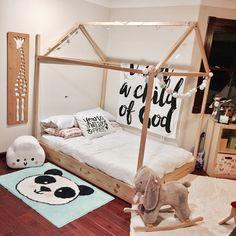 Toddler Full Size Floor Bed