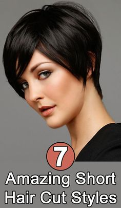 Totally Chic Short Bob Hairstyles For Girls. layered short bob hairstyles with bangs. short layered bob hairstyles for thick hair. short layered bob hairstyles for fine hair Best Short Haircuts, Popular Haircuts, Short Hairstyles For Women, Pixie Haircuts, Pixie Hairstyles, Haircut Short, Fringe Hairstyles, Layered Hairstyles, Haircut Styles