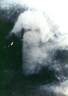 photo of an apparition taken from an airplane window in the 1970's...the famous Heaven photo.