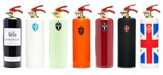 Because fighting fires with regular extinguishers is so pedestrian! These fun fire extinguishers are designed by Fire Design and sold by Tusch und Egon (an Web Design, Realtor Gifts, Client Gifts, Fire Extinguisher, Fire Hydrants, Gadgets And Gizmos, Reno, Craft Gifts, House Warming