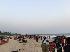#BeattheHeat Crowd at #Colva #Beach..... #Goa #tourist #Hotweather