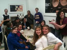 Friends gathering at Naticakes Morgantown