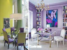 As diferentes tonalidades de roxo estão em alta! Essa cor – uma das eleitas para 2017 – tem o poder de transformar o astral do ambiente, deixando-o mais positivo e acolhedor. Use-a em alguns adornos, como cortina, tapete, almofada, pufe e cadeiras. Ou então escolha uma das paredes do ambiente, mantendo o restando em tonalidades neutras, como branco, bege e cinza. Fica lindo!  #decoração #decoracao #decor #designdeinteriores #arquiteturadeinteriores