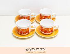 Funky Tangerine Orange Tea Set - Retro and Vintage China, Glassware and Kitchenalia - yay retro!