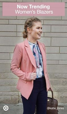 Women'S blazers are a trendy outfit must-have. pair with dress pants or jeans for a stylish, polished look. Basic Outfits, Trendy Outfits, Cute Outfits, Fashion Outfits, Fashion Tips, Office Fashion Women, Work Fashion, Style Fashion, Everyday Outfits