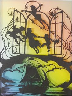 Peter Pan Fairy Tale Paper Cut by SomethingtoLove1 on Etsy