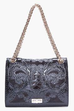 Balmain: Black {oh so} Ultimate Embossed Shoulder Bag.