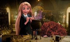 Rapunzel's like: there's smoke coming from it!! Merida: But it's supposed to be GRAY, not pink! Rapunzel: Pink's prettier!!  Merida: UGH!! *collapses*