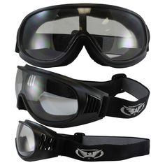 643b5b50a01 Motorcycle Riding Goggles Clear They Are Vented To Help Prevent Fogging  Shatterproof Polycarbonate Lenses Also Great for Paintball Airsoft Hunting  Shooting ...