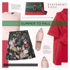 """""""Summer to Fall Layering"""" by redflowergirl ❤ liked on Polyvore featuring Paule Ka, Simone Rocha, Gucci, Miu Miu, layers and gucci"""