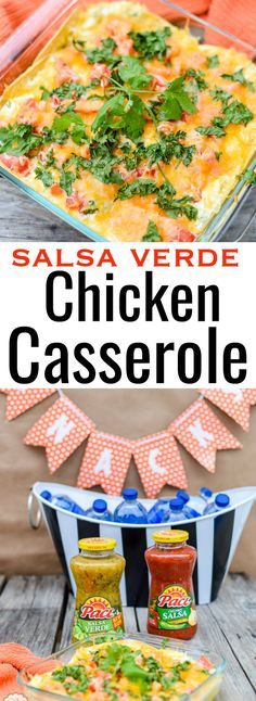 Looking for a delicious recipe for game day? My Salsa Verde Chicken Casserole is easy to make and is done in under 30 minutes. It's big, bold and delicious. Quick Healthy Meals, Healthy Recipes, Delicious Recipes, Healthy Life, Quesadillas, Burritos, Enchiladas, My Salsa, My Favorite Food