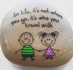 Top Painted Rock Art Ideas With Quotes You Can Do(48)