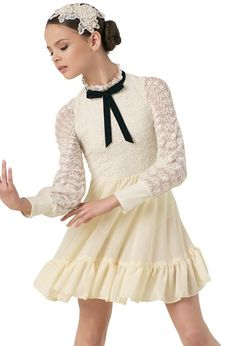 Terrific Photo Candlelight 10691 Weissman Ivory Crochet lace Size IC Costume Ballet Recital Ideas Today, dance criticism is really a clear room, because it's perhaps not at eye level with the thi Dance Moms Costumes, Lyrical Costumes, Jazz Costumes, Ballet Costumes, Dance Outfits, Dance Dresses, Satin Dresses, Lace Dress, Gowns