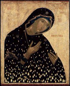 """Virgin Mary """"Keriotissa"""" by Christos Bokoros Byzantine Art, Byzantine Icons, Russian Icons, Russian Art, Religious Icons, Religious Art, Art Icon, Medieval Art, Renaissance Art"""