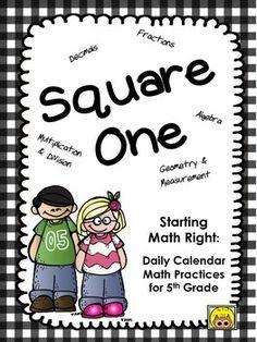 calendar math for 5th grade