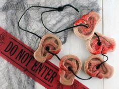 The Walking Dead - Daryl's Ear Necklace Cookie Tutorial -- such a cool idea for #walkingdead fans! #zombie #halloween
