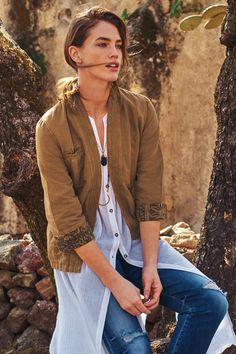 Linen Wrap Jacket  by Hei Hei