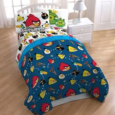 #BFCM #BlackFriday #CyberMonday #oBedding - #Jay Franco and Sons Angry Birds Madness Twin Sheet Set - Video Game Application Sheets Twin Bed - AdoreWe.com