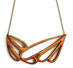 Large statement necklace - abstract necklace - Scandinavian inspired laser cut wooden jewelry - Scandinavian jewelry by OneHappyLeaf on Etsy https://www.etsy.com/listing/205864486/large-statement-necklace-abstract