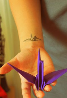 Japanese Paper Crane Tattoo
