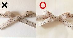 How to tie a bow to show the right side print on both loops Handmade Crafts, Diy And Crafts, Arts And Crafts, Paper Crafts, Ribbon Wrap, Diy Accessories, Easy Gifts, Craft Work, Craft Gifts