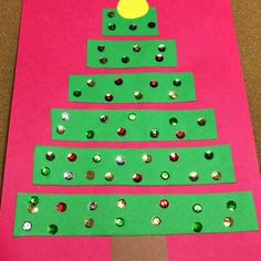 Cut and Glue Holiday Tree Art Project For Preschool and Kindergarten