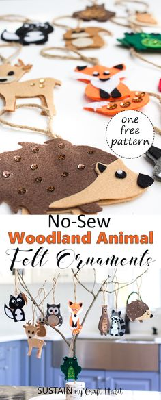 DIY Woodland Felt Ornaments DIY Woodland Baby Shower Decorations via Sustain My Craft Habit Baby Shower Themes, Baby Shower Decorations, Shower Baby, Craft Decorations, Woodland Decor, Woodland Baby Shower Decor, Woodland Themed Nursery, Woodland Animal Nursery, Baby Decor