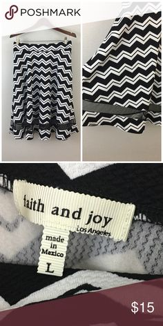 Faith & Joy Black White High Waist Stripe Midi Faith & Joy Black White High Waist Stripe Midi Skirt. Size Large with stretch. Thank you for looking at my listing. Please feel free to comment with any questions (no trades/modeling).  •Condition: Excellent! No visible flaws.   ✨Bundle and save!✨10% off 2 items, 20% off 3 items & 30% off 5+ items! HC faith & joy Skirts Midi