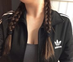adidas, aesthetic, french braids - image on We Heart It Sporty Outfits, Cute Outfits, Tumbrl Girls, Mein Style, Let Your Hair Down, Adidas Outfit, Favim, Boho, Pretty Hairstyles