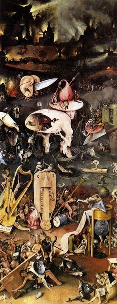 Garden of Earthly Delights 1510 by Hieronymus Bosch Painting Art repo FREE S//H