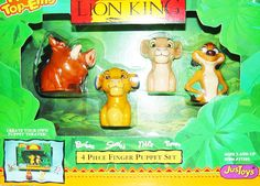 Disney Lion King Finger Puppet Set New in Box by VintageUpcycled