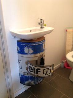 Bidon cache tuyau pour lavabo jéjé racing