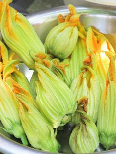 Feta-filled Zucchini Blossoms – French Fridays with Dorie with a nod to Aglaia Kremeziv