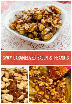 Spicy Caramelized Peanut & Bacon, Burnt sugar, roasted peanuts, smoky bacon, and smoky chiles make a heavenly flavor pairing. great as a sweet nibble, but also as an embellishment for all kinds of chocolate desserts