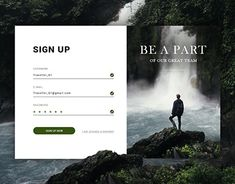 "Check out new work on my @Behance portfolio: ""Sign up"" http://be.net/gallery/64719399/Sign-up"