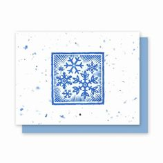 Grow-A-Note® Snowflake - Green Field Paper Company plantable seed embedded holiday card