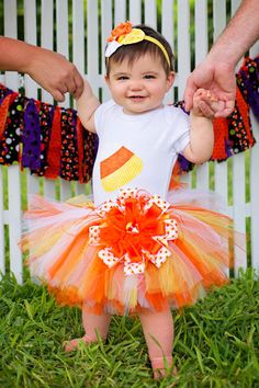 Candy Corn Tutu Set,Candy Corn Shirt,Candy Corn Tutu,Halloween Costume,Halloween Outfit,Infant Outfits,Toddler from SpoiledBratz on Etsy.