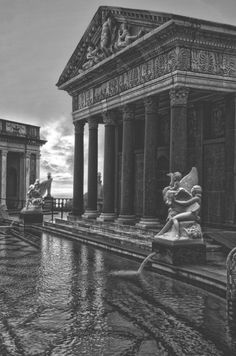 ◦Archaeology and History of Art. ◦Sculpture and art inspired by ancient greek and ancient roman culture and mythology. Classical Architecture, Historical Architecture, Ancient Architecture, Beautiful Architecture, Beautiful Buildings, Art And Architecture, Architecture Details, Monuments, Temples
