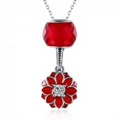 Cheap fine jewelry, Buy Quality gift necklace directly from China gifts for girls Suppliers: Fashion 925 Sterling Silver Necklace Fine Jewelry Collier Red Cherry Blossoms Pendant Necklace Women Jewelry Gift for Girls Gold Plated Necklace, Sterling Silver Necklaces, Jewelry Supplies, Jewelry Stores, Long Chain Necklace, Chain Necklaces, Pendant Necklace, Crystal Necklace, Fashion Jewelry
