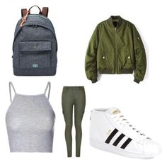 """""""Untitled #57"""" by journeycarothers on Polyvore featuring Glamorous, Ally Fashion, adidas and FOSSIL"""