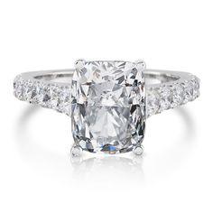 White Sapphire & Genuine Diamonds by PristineCustomRings