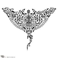 Manta Ray Tattoo Design Plus