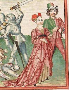 Elisabeth <Nassau-Saarbrücken, Gräfin, 1393-1456> Herpin — Stuttgart (?) - Werkstatt Ludwig Henfflin, um 1470 Cod. Pal. germ. 152 Folio 5v