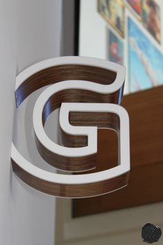 spacemanstudio.co.uk design, fabricate and install this protruding lift lobby sign